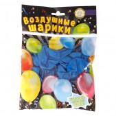 Воздушные шары разных цветов  металик, 25 см, 10 шт.