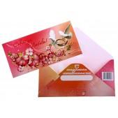 Glückwunschkarte zur Hochzeit als Umschlag