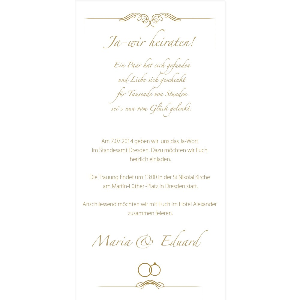 Открытки с днем свадьбы на немецком языке 82